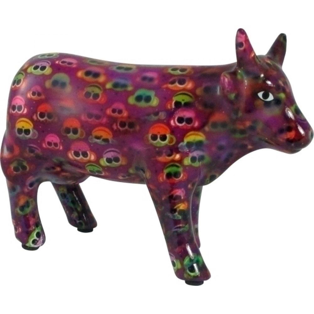 Vaca De Cerâmica com Macaquinhos 18X13 Cm.