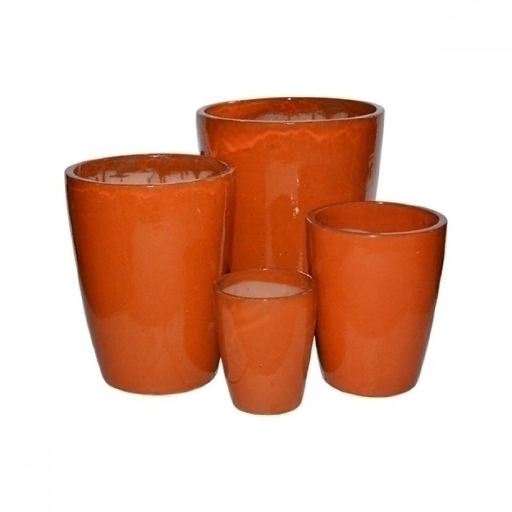 Vaso Vietnamita Laranja 4 peças
