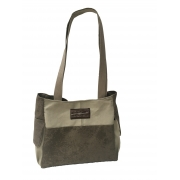 Bolsa Feminina RISCA 6702 em Lona Algodão Caqui