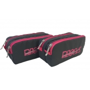 Kit 2 Necessaires  Estojo Duplo RISCA 5020 - Cz Chumbo/Pink