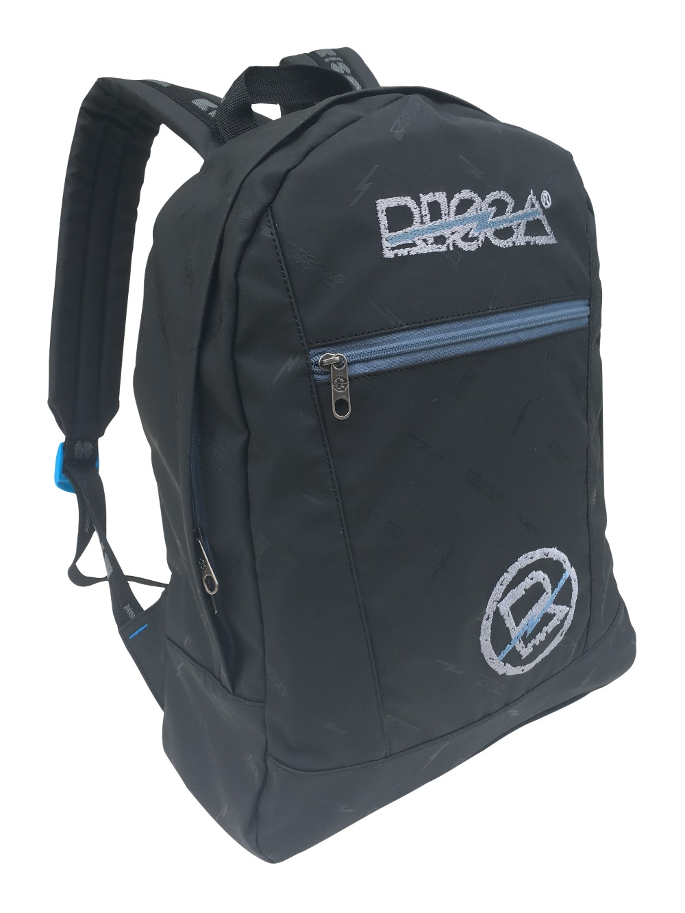 Mochila Risca 9003 - Preto/Azul Jeans