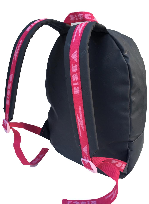 Mochila Risca 9064 - Cinza Chumbo/Pink