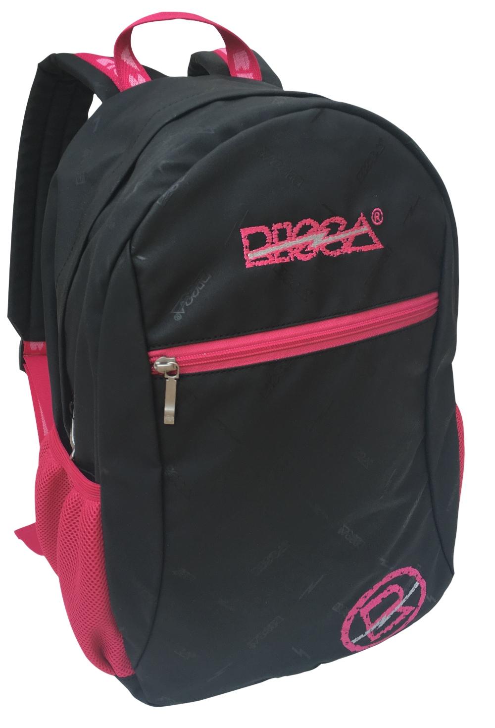 Mochila Risca 9069- Preta/Pink