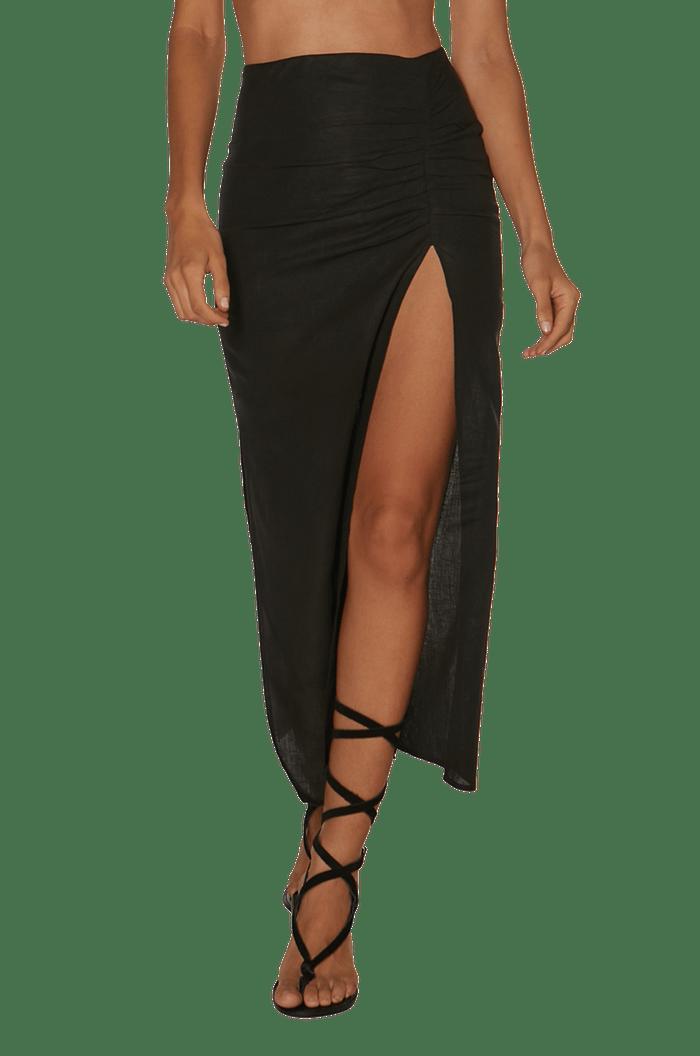 BLACK CLARA LONG SKIRT