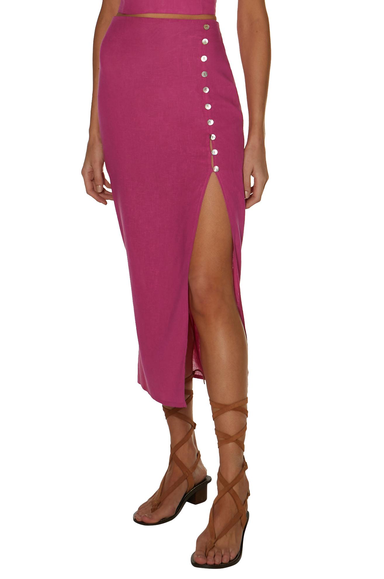 Saia Vix Bubblegum Cora Long Skirt