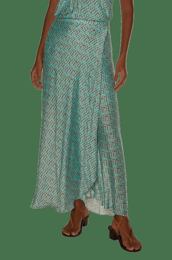 Saia Vix Mamba Acqua Dora Long Skirt