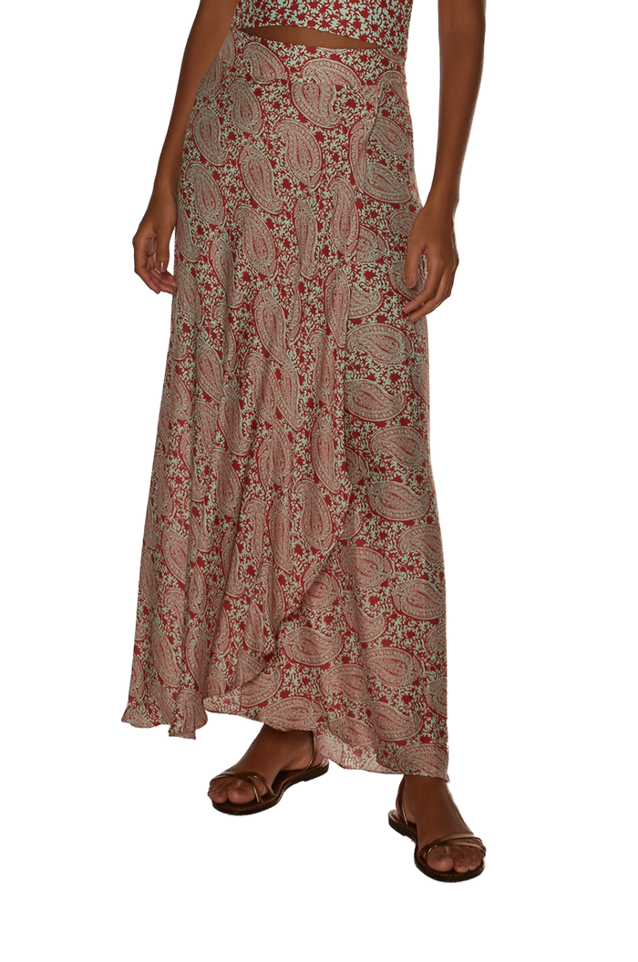 Saia Vix Prya Red Dora Long Skirt