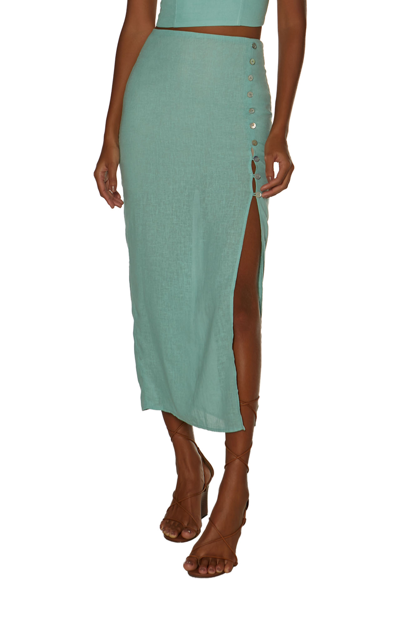 Saia Vix Solid Cora Long Skirt