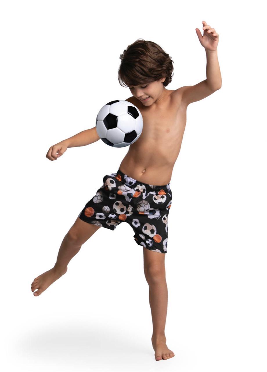 Bermuda Infantil Estampa Bola de Futebol