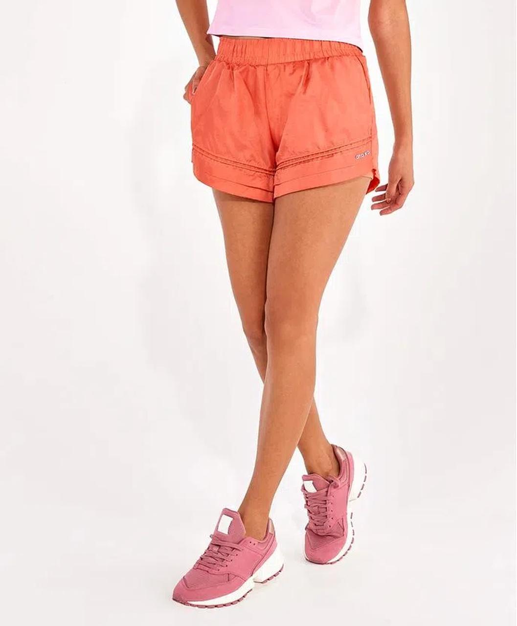 Shorts Feminino Aerofit Barra Dupla Ref:2112031