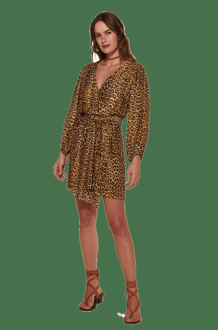 Vestido curto com forro VIX/SOFIA