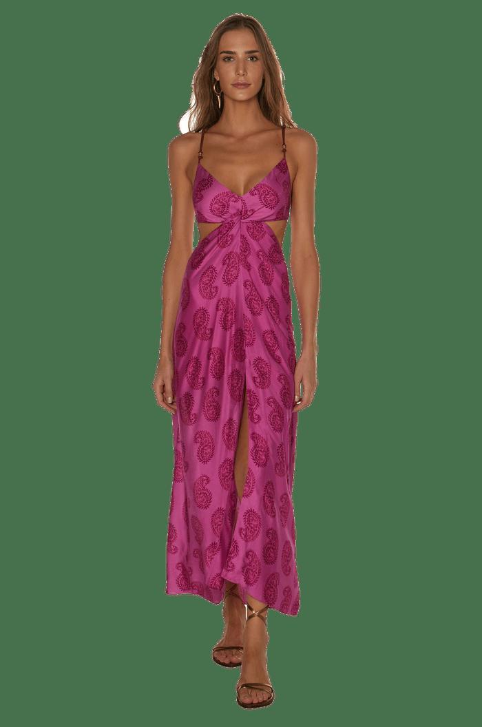 Vestido longo com forro Vix