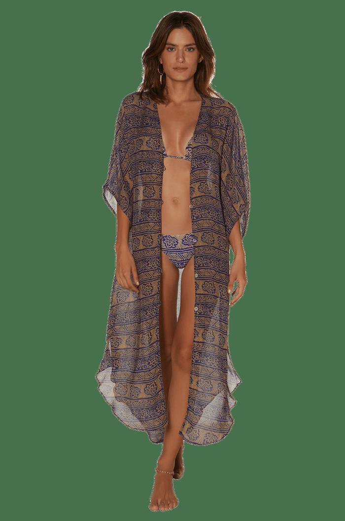 Vestido Vix Bandhani Klein Braid Caftan