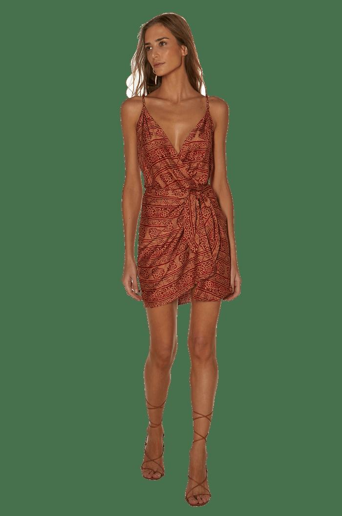 VESTIDO VIX BANDHANI RED SHAYE GISA SHORT DRESS