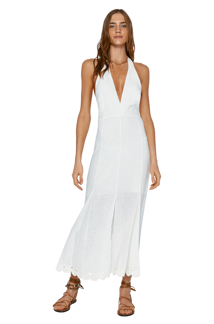 VESTIDO VIX OFF WHITE VIVI LONG DRESS
