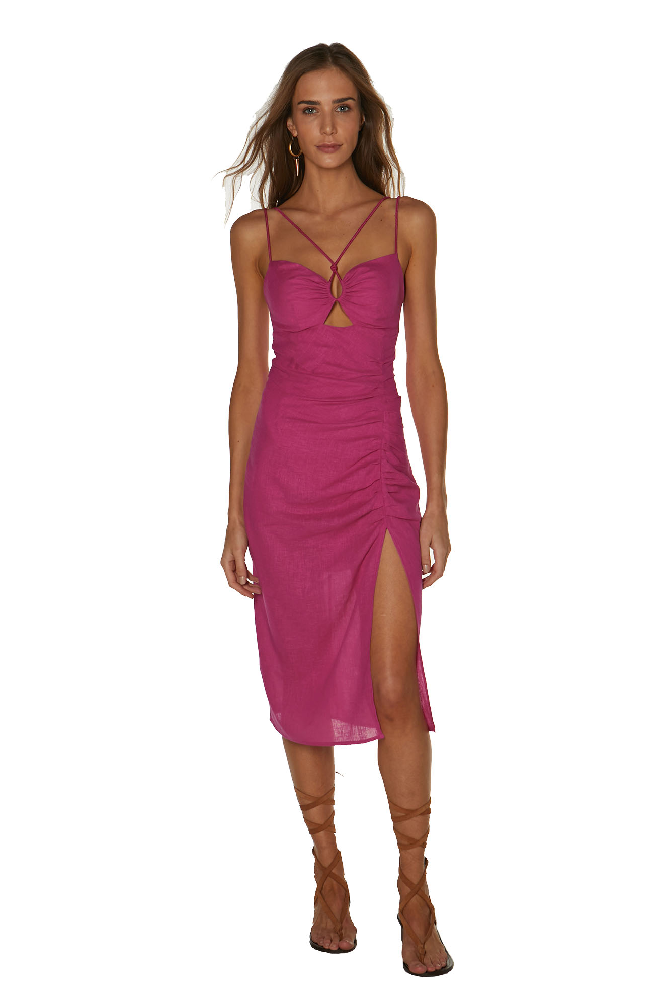 Vestido Vix Solid Kate Midi