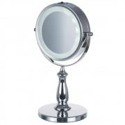 Espelho de Mesa Led Dupla Face c/ 5x p/ Maquiar e Barbear