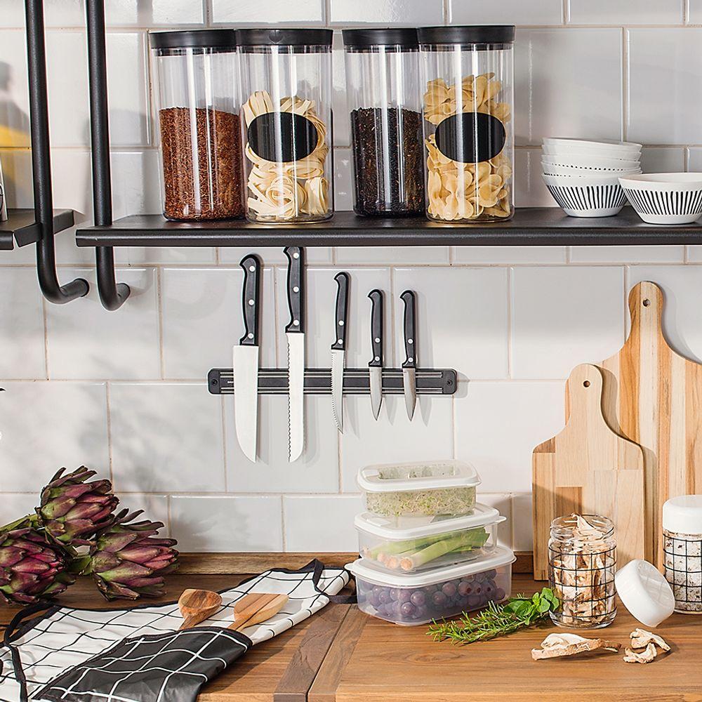 Barra Magnética p/ Utensílios de Cozinha, Facas, Ferramentas