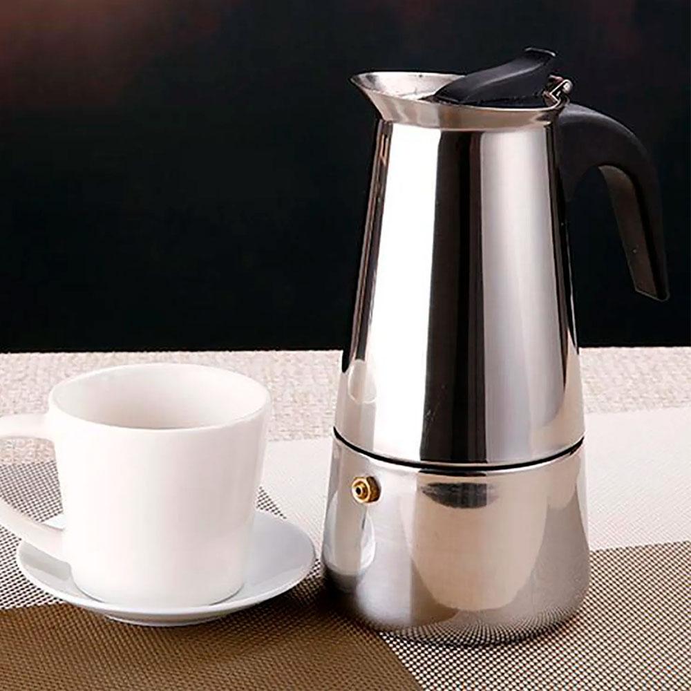 Cafeteira Italiana Gourmet em Aço Inox p/ 9 Cafés - 470 ml
