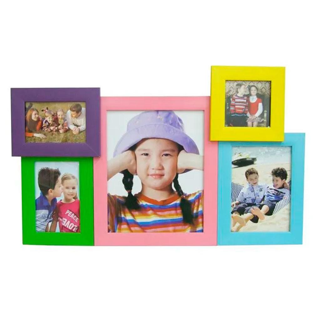 Conjunto com 5 Porta Retratos Coloridos
