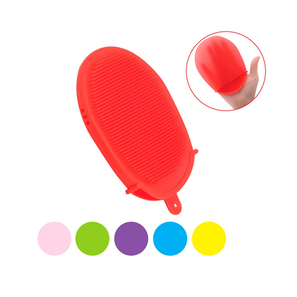 Esponja/Luva de Silicone Antibacteriana Multiuso