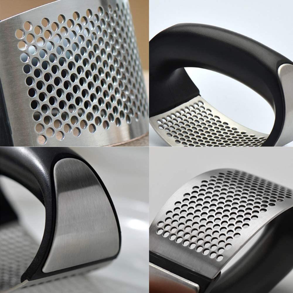 Espremedor / Amassador de Alho em Aço Inox e ABS Preto