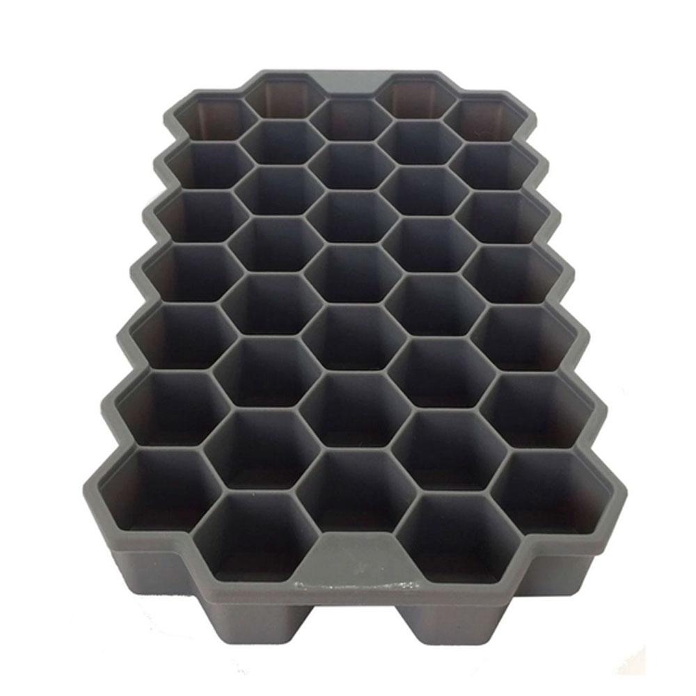 Forma em Silicone Colméia p/ 37 Gelos, Bombons ou Sabonetes