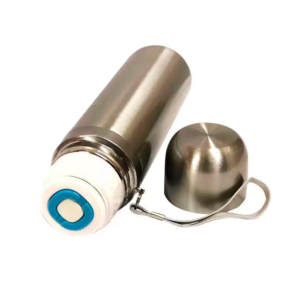 Garrafa Térmica Quente e Frio em Aço Inox de 350ml c/ Alça