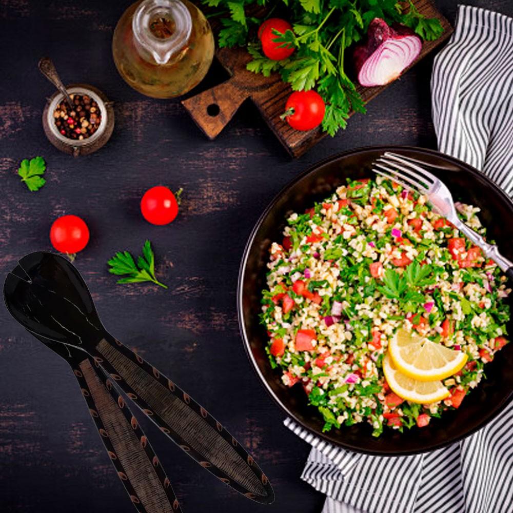 Jogo de Talheres para Salada em Chifre / Osso
