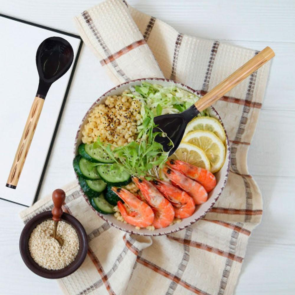Jogo de Talheres para Salada em Chifre / Osso e Bambu