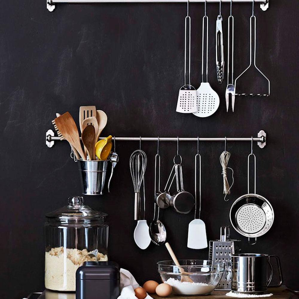 Kit de Utensílios de Cozinha c/ 5 Peças em Aço Inox Premium