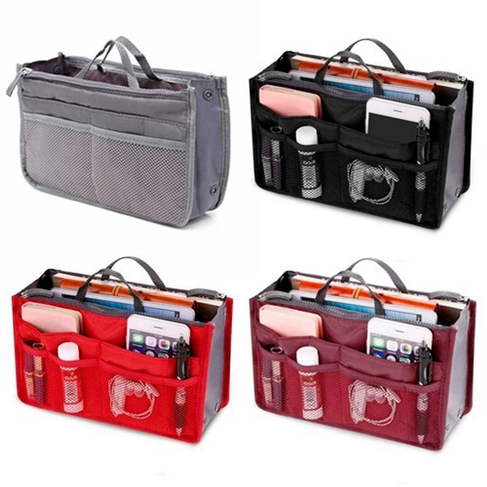 4 Organizador de Bolsa - Maquiagem Celular Acessórios Viagem