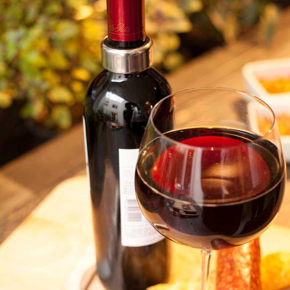 Kit para Vinho Luxo com 5 Peças e Estojo de Madeira