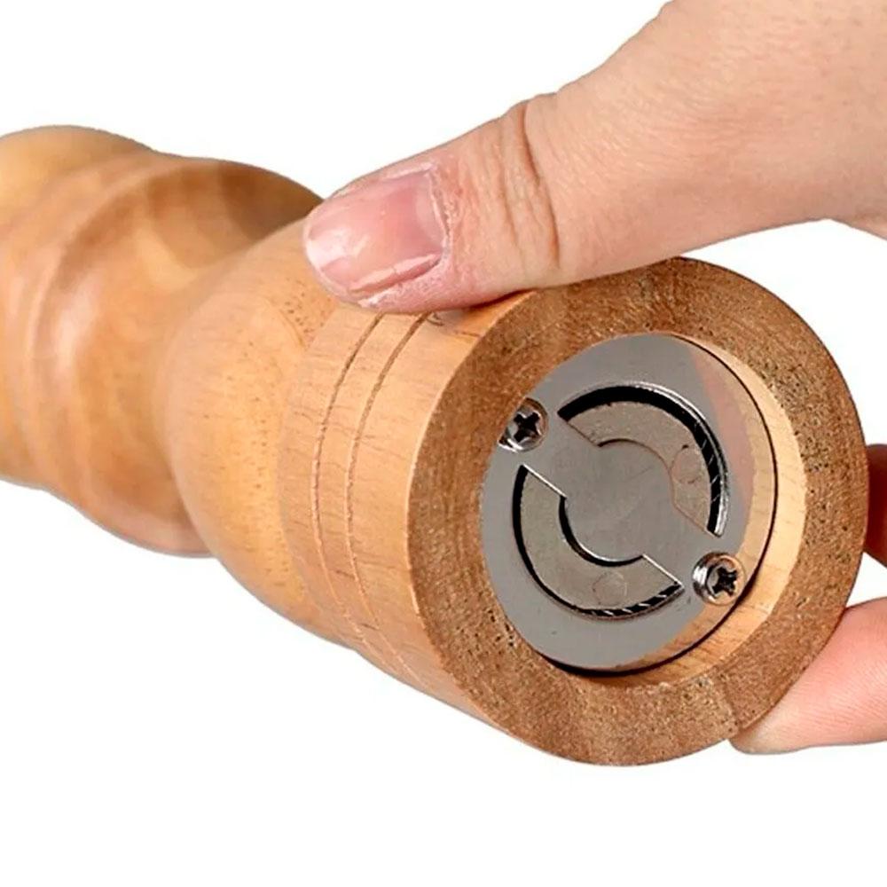 Moedor de Sal ou Pimenta em MDF c/ Moenda de Cerâmica 16 cm