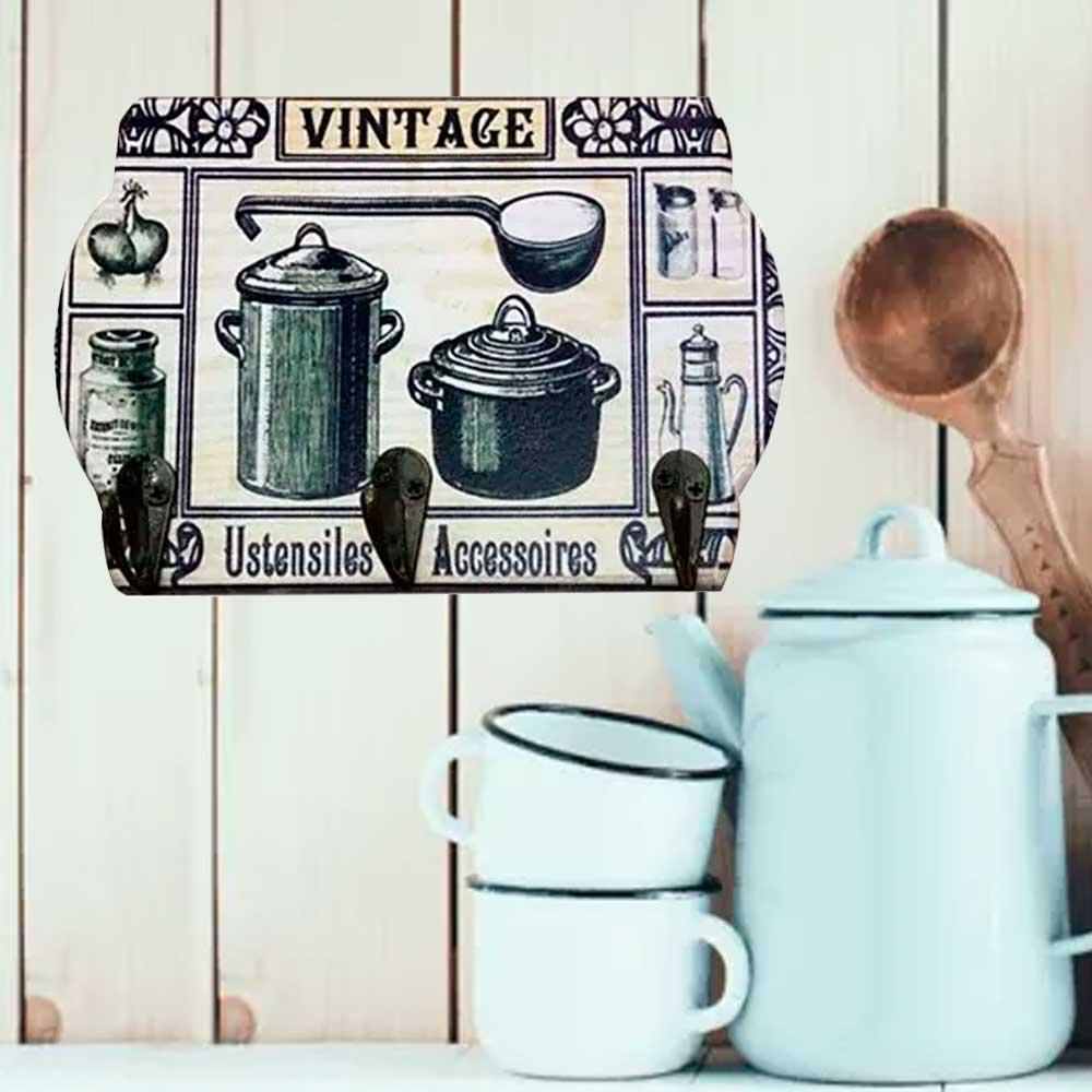 Porta Chaves Vintage Cozinha