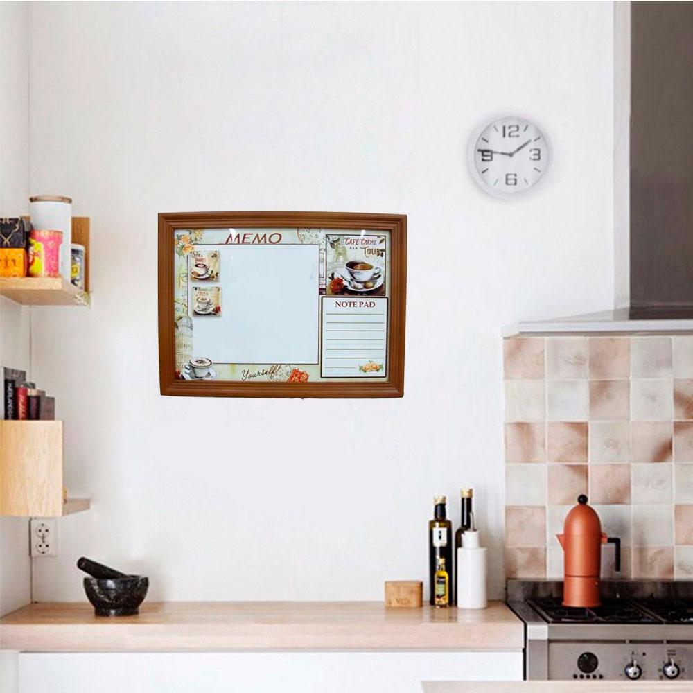 Quadro Magnético Porta Recados Retrô para Cozinha