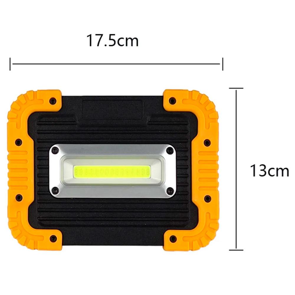 Refletor Portátil de Emergência Led Para Camping - Amarelo