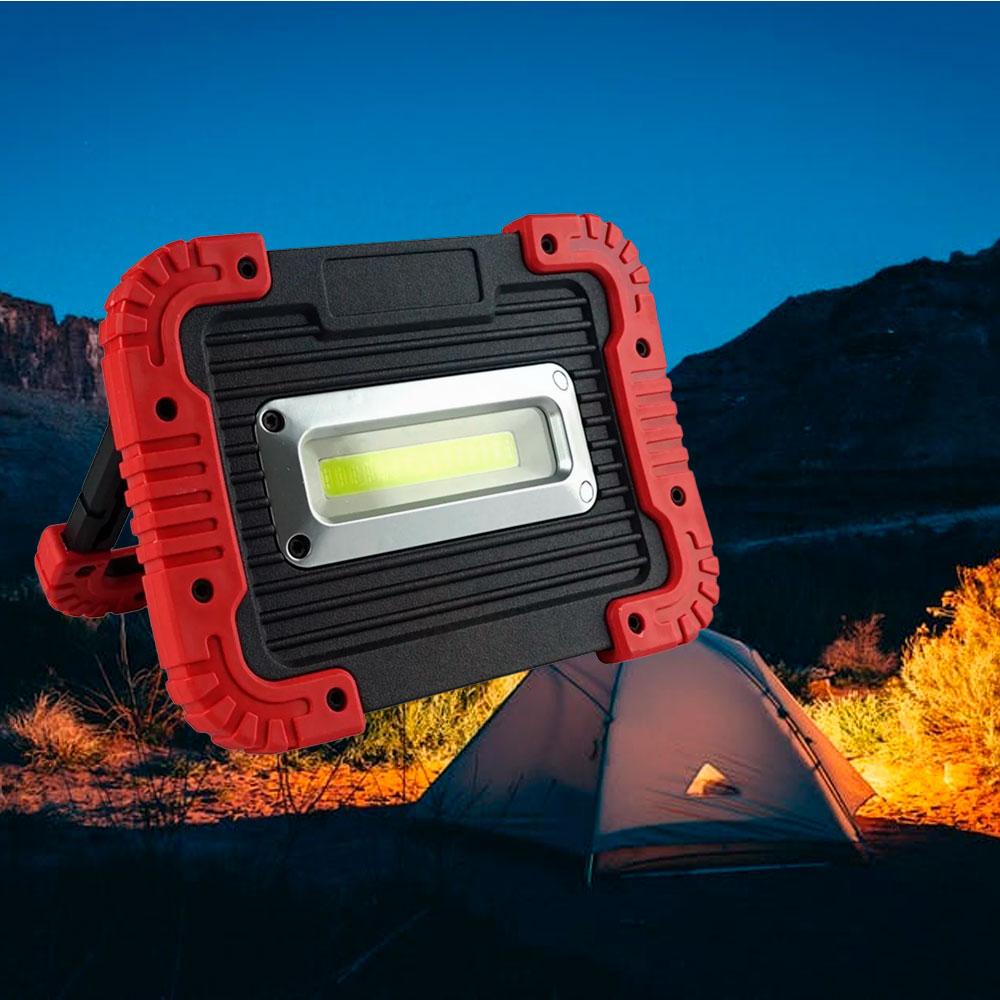Refletor Portátil de Emergência Led Para Camping - Vermelho