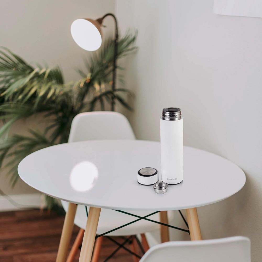 Squeeze Térmico Color Inox Branco 500ML Termopro