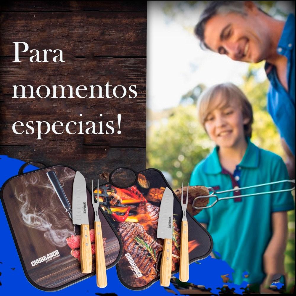Tábua de Corte p/ Cozinha, Churrasco e Servir c/ Estampa