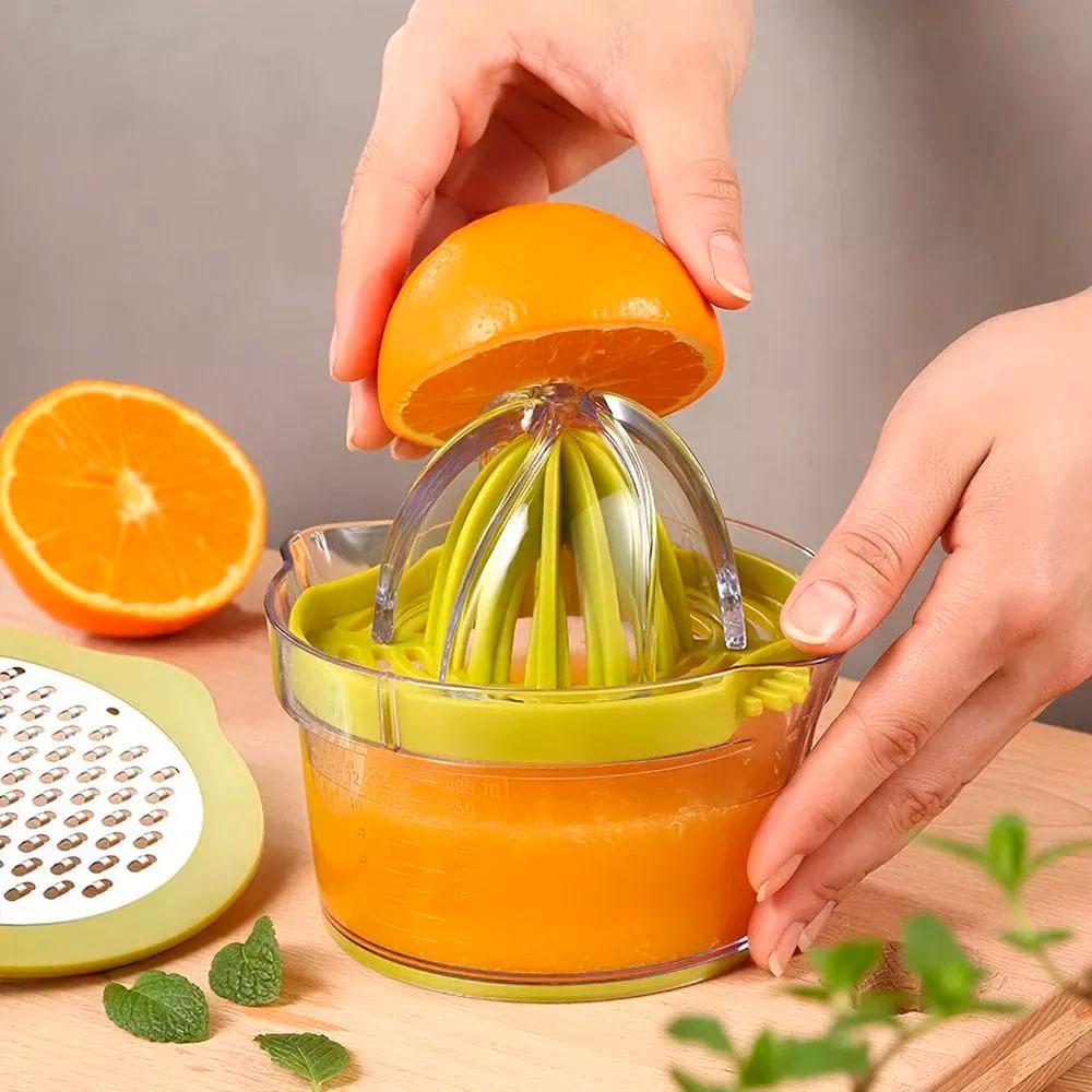 Utensílio Multiuso 5 em 1 de Acrílico e Inox Para Cozinha
