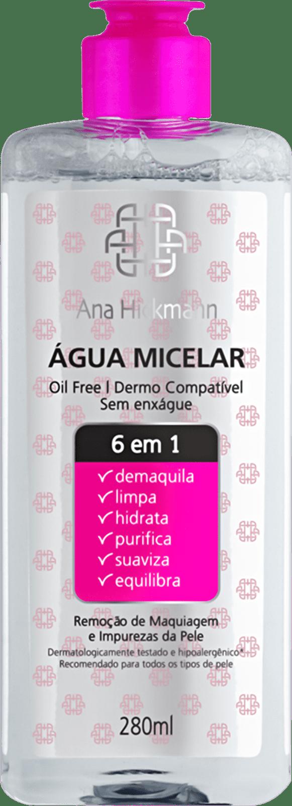 Agua Micelar 6 Em 1 Ana Hickmann 280ml