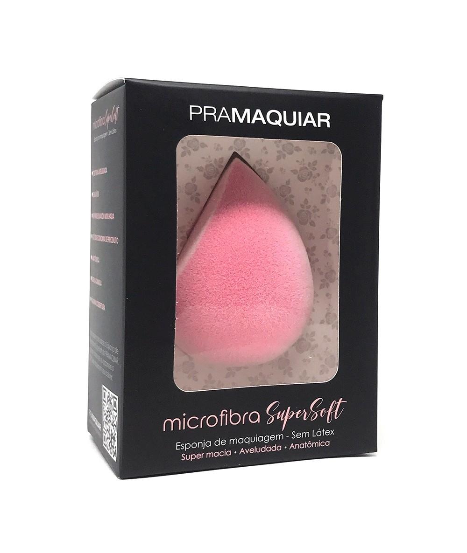 Esponja Pramaquiar de Maquiagem Microfibra Supersoft - Rosa