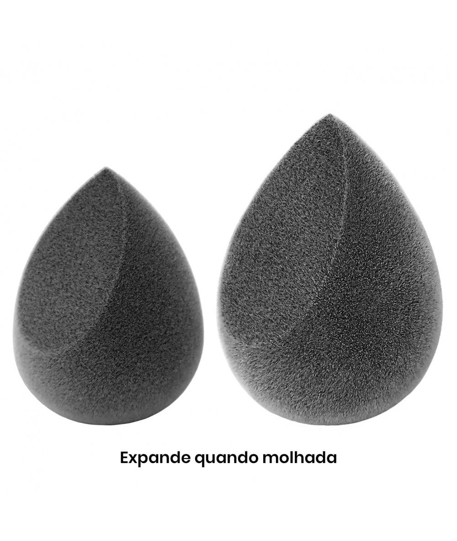 Esponja Pramaquiar de Maquiagem Microfibra Supersoft - Sem Latex - Preta