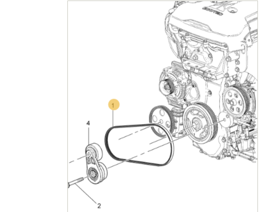 Correia Bomba Direção Hidráulica - S10 2.5L ECOTEC FLEX 2015/2017 Original GM 12666889