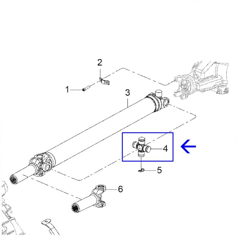 Cruzeta Cardan Traseiro - Nova S10 2012 á 2021 - Trailblazer 94772179
