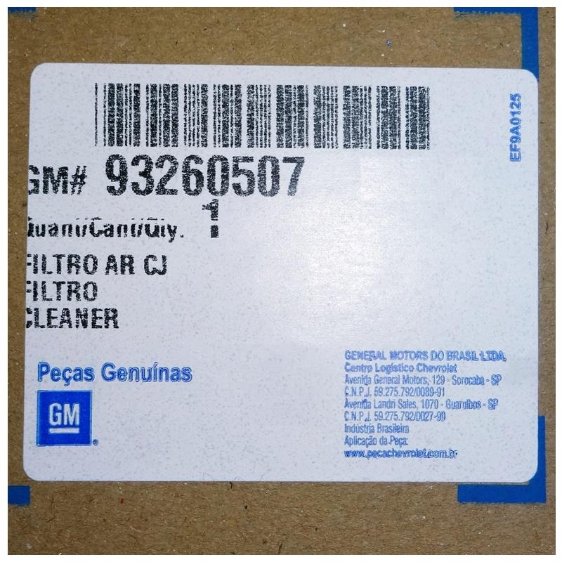Filtro de Ar Completo - Celta 2001 á 2016 - Prisma 2007 á 2012 93260507