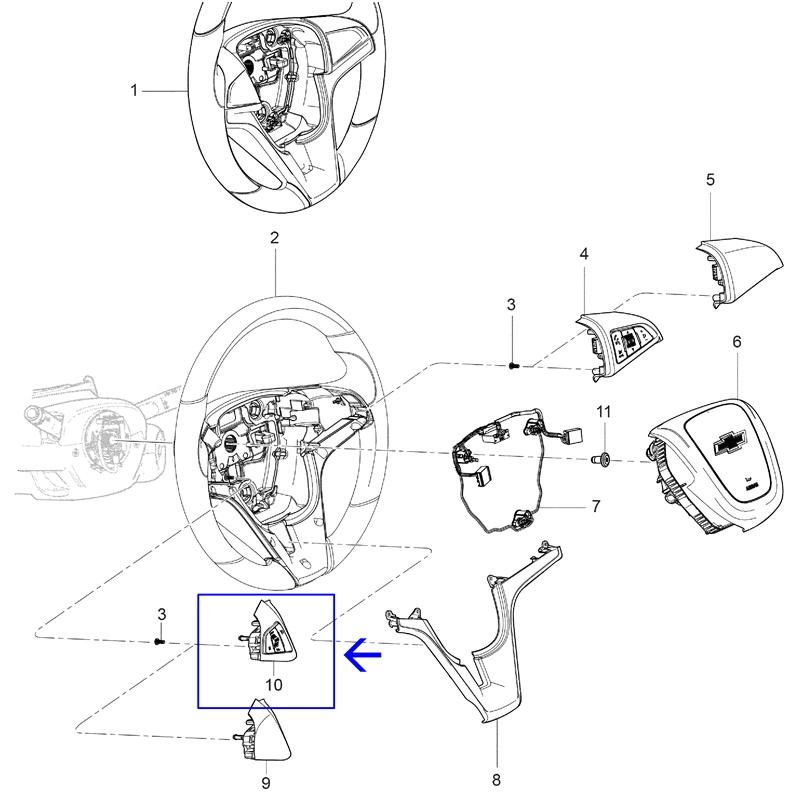 Interruptor do Controle de Velocidade Cruzeiro LE - Spin 2013/2014 - Cobalt 2012/2015 94761100