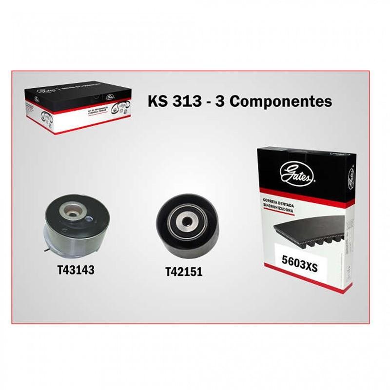 Kit Correia Dentada com Tensor - Cruze 1.8 16V / Tracker 1.8 16V / Sonic 1.6 16V 24422964