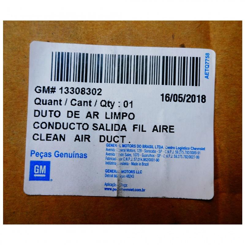 Mangueira do Filtro de Ar - Cruze 1.8 16V 2012 á 2016 GM 13308302